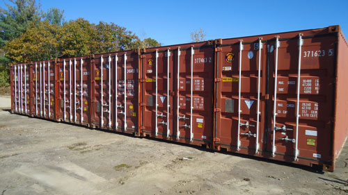 A row of storage containers