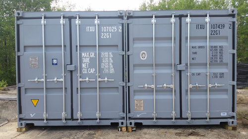 Two large storage containers
